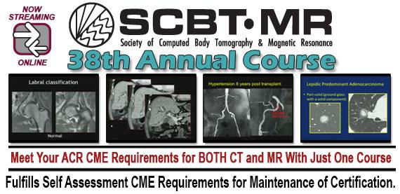SCBT-MR (Society of Computed Body Tomography and Magnetic Resonance) 38th Annual Course