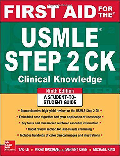 First Aid for the USMLE Step 2 CK, Ninth Edition (First Aid USMLE) 9th Edition