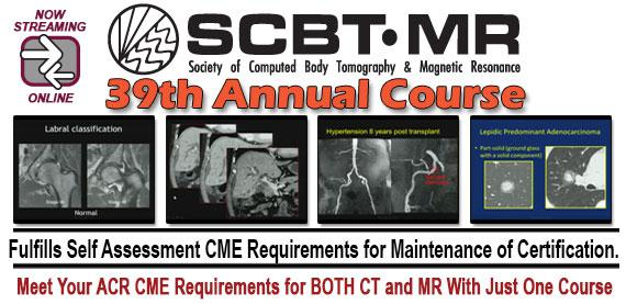 SCBT-MR (Society of Computed Body Tomography and Magnetic Resonance) 39th Annual Course (2016)
