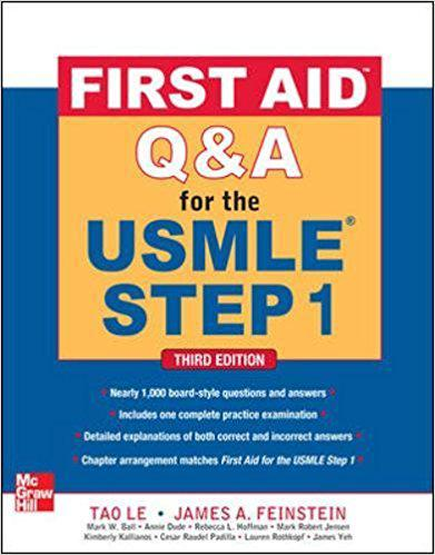 First Aid Q&A for the USMLE Step 1, Third Edition (First Aid USMLE) 3rd Edition
