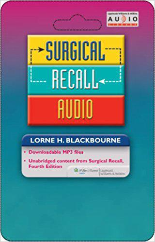 Surgical Recall Audio (Recall Series) 1st Edition
