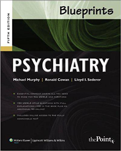 Blueprints Psychiatry (Blueprints Series) Fifth Edition