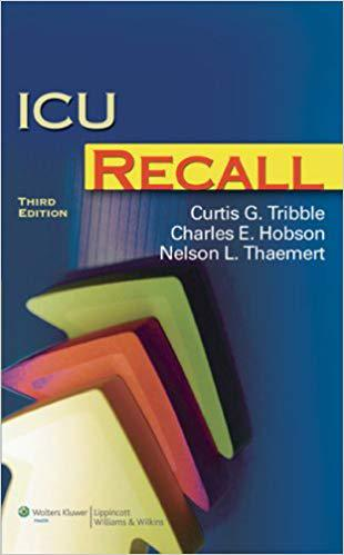 ICU Recall (Recall Series) Third Edition