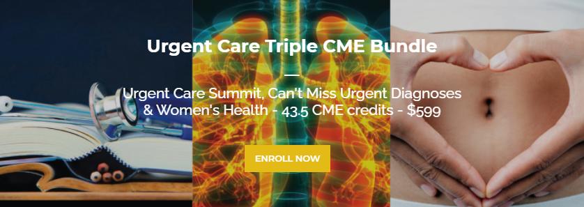 Urgent Care Triple CME Conference Bundle (40+ CME credits)