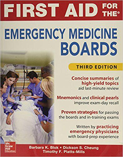 First Aid for the Emergency Medicine Boards Third Edition 3rd Edition
