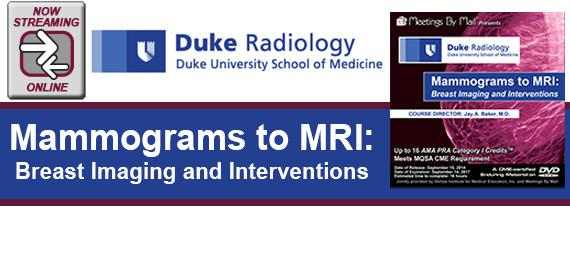 Mammograms to MRI: Breast Imaging and Interventions