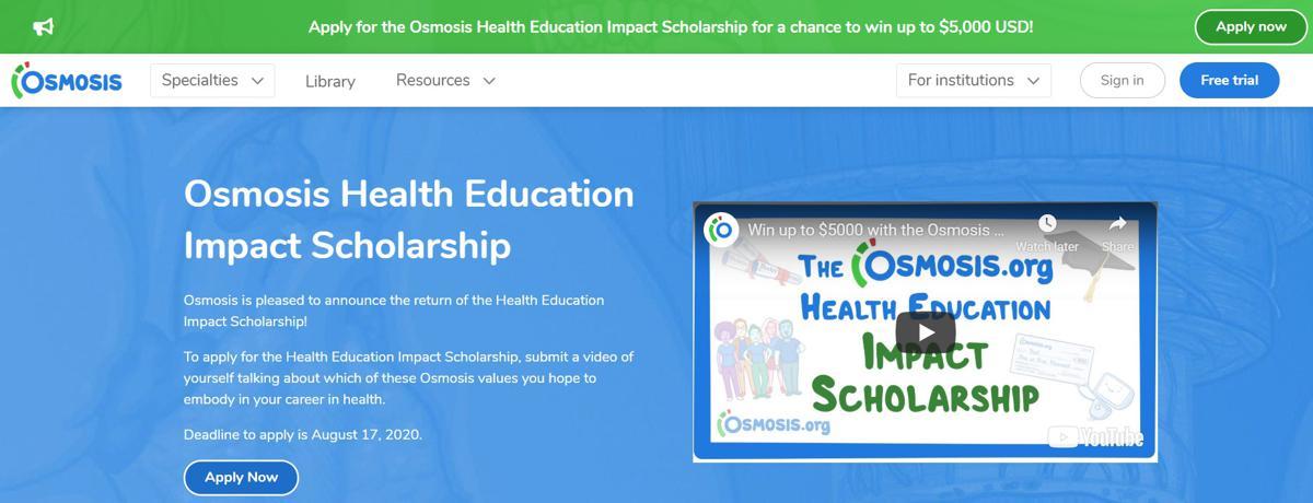 Osmosis Health Education Impact Scholarship