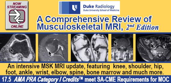Duke Radiology: A Comprehensive Review of Musculoskeletal MRI, 2nd Edition