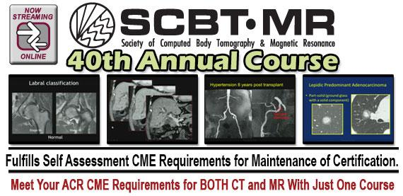 SCBT-MR (Society of Computed Body Tomography and Magnetic Resonance) 40th Annual Course (2017)